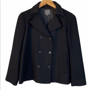 Premise black wool double breasted jacket